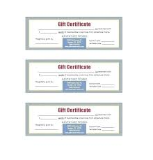 Blank Gift Certificate Template Ericremboldt Com
