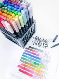 Tombow Tidy Up Printable Tombow Dual Brush Pen Organizer