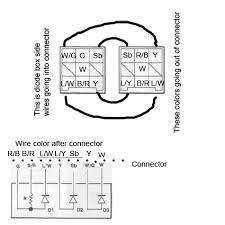 viragotechforum com • view topic do i understand it right 81 83 as you cna see here yellow wire from r r going into connector > then as l y not diagram color but only diode box color > diode > going out as w to