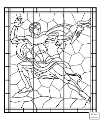 Stained Glass Cross Coloring Page Eskayalitim