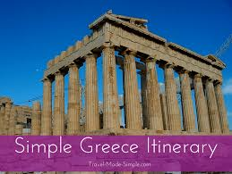 Another Word For Itinerary Is Simple Greece Itinerary Ideas For Planning One Week In