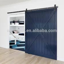 modern x brace panel sliding barn door interior for bed room