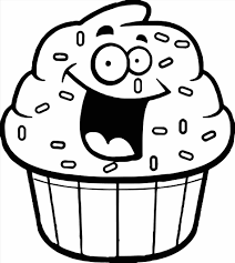 Small Picture Free Coloring Page Of A Cupcake Printable Cupcake Coloring Pages