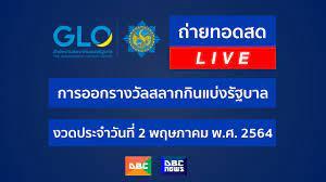 LIVE!! ถ่ายทอดสด การออกรางวัลสลากกินแบ่งรัฐบาล งวดประจำวันที่ 2 พฤษภาคม 2564