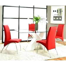 red dining room furniture table set chairs white base sets cherry wood di red leather chairs dining room