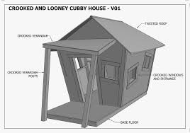 crooked playhouse plans free unique crooked cubby house play house v05 building plans
