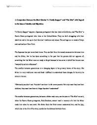 a comparison between the short stories a family supper and the  page 1 zoom in