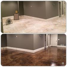 basement floor finishing ideas. Grey Walls And Stained Concrete Floor---We Decided To Try H\u0026C Semi-Transparent Stain In Expresso. My Dad Applied Two Coats Of Basement Floor Finishing Ideas