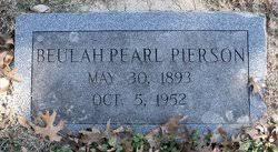Beulah Pearl Morris Pierson (1893-1952) - Find A Grave Memorial