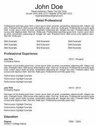 Retail Job Resumes Resume Template For Retail Position Lazine Net