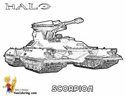 scorpion coloring pages heavy halo reach free kids