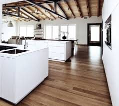 Wooden Floor Kitchen White Oak Wood Flooring Kitchen Modern With Ceiling Lighting Dark
