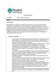 Job Description Job Title Senior Project Accountant Details Job