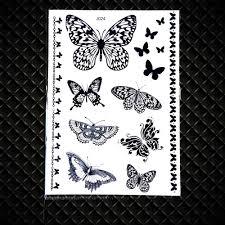 25 конструкции для детей с принтом бабочка хна временная тату наклейка на