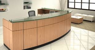 Receptionist Desk Reception Table Area - Friant Willow  Office Furniture Depot a