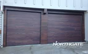 mc0014 plank insulated steel door mahogany accent color bottom trailers cut to fit slope of driveway 3285