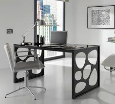 contemporary glass office. Nice Modern Glass Office Desk Funky Steel Furniture Design Contemporary