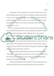 Dna Essay Forensic Science Dna Evidence Essay Example Topics And