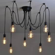adjustable pendant lighting. NAVIMC Black Vintage Industrial Pendant Light Fixtures Spider Lighting, Edsion 8 Heads Ceiling Chandelier - Amazon.com Adjustable Lighting L