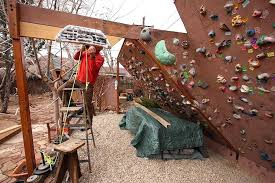 how to build an outdoor climbing wall backyard rock climbing wall style build outdoor climbing wall