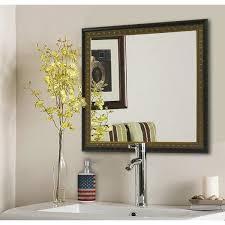 traditional cameo bronze square decorative wall mirror