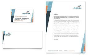 Letterhead Designs Templates Health And Fitness Gym Business Card And Letterhead Design Template