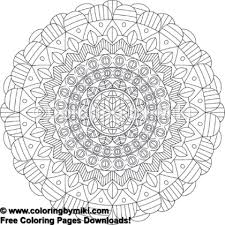 Tribal Mandala Coloring Page 775 Coloring By Miki