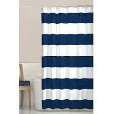 navy and white shower curtain blue grey