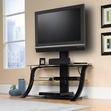 tv stand with mount walmart. sauder studio black edge panel tv stand with mount for tvs up to 50\ tv walmart n