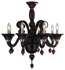 murano venetian style 8 light blown glass in cranberry red finish chandelier