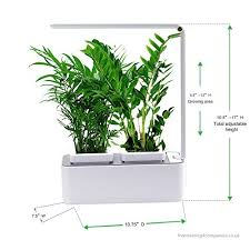 indoor herb garden aibis hydroponics watering growing system organic home herbs gardening kit with led grow