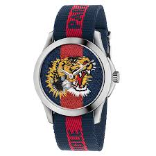 gucci watches watches ernest jones gucci men s stainless steel tiger strap watch product number 6383394