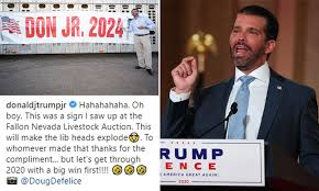 Don Jr teases possible 2024 ...