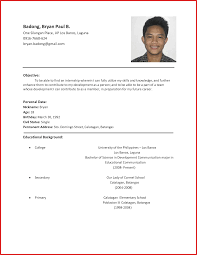Luxury Student Resume Format Formal Letter