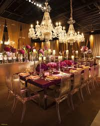 purple and gold decoration crystal chandeliers acrylic chairs