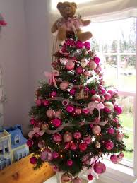 christmas trees decorated pink. Exellent Trees Pink Christmas Decorations Tree For Trees Decorated R
