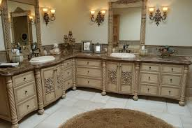 High End Carved Wood Bathroom Vanity Cabinet Storage Furniture