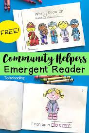 Community Helpers Emergent Reader | Totschooling Blog - Printables ...