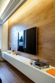 indirect lighting ideas tv wall. Indirekte Beleuchtung Und Wandpaneel Aus Holz Im Wohnzimmer Indirect Lighting Ideas Tv Wall P