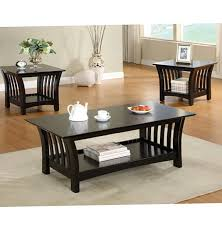 Captivating Coffee And End Table Sets End Table Sets A Walnut Finished  Breakfast Nook Basket Coffee