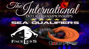 dota 2 live faceless v s tnc the international 2017 sea