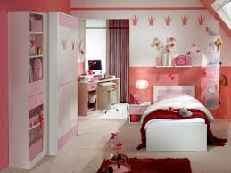 bedroom ideas for teenage girls pink. Bedroom:Striking Pink Bedroom Idea For Teen Girls With Crown Wall Decals Also White Single Ideas Teenage 3