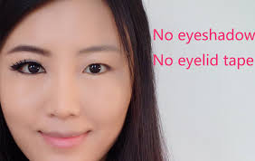 how to make eyes look bigger for asian monolid puffy eyes without eyeshadow or eyelid tape you