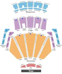 microsoft theater seating chart maps