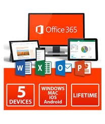 Microsoft Office 365 Lifetime 5 User Activation Card Delivered By