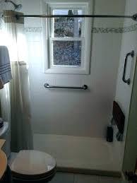kohler corner shower base showers salient shower pan base spaces traditional with grab bars s cast iron