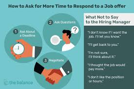 Responding To Job Offer How To Ask For Time To Consider A Job Offer
