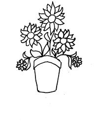 Disegni Da Colorare Bambini I Vaso Di Fiori Con Vasi Da Colorare E