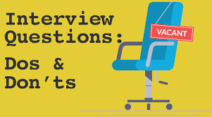 The Do S And Don Ts Of An Interview Interview Questions Dos And Donts Employee Scheduling App