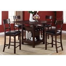 tabacon counter height dining table wine: amazoncom poundex f amp f brown finish w beige fabric counter height dining set table amp chair sets